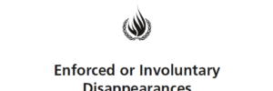 Enforced and Involontary disappearances - OHCHR