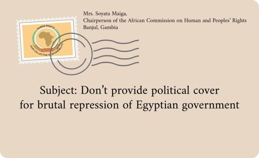 SUBJECT: DON'T PROVIDE POLITICAL COVER FOR BRUTAL REPRESSION OF EGYPTIAN GOVERNMENT