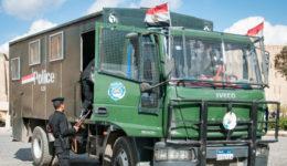 Egypt police truck [Wikipedia]
